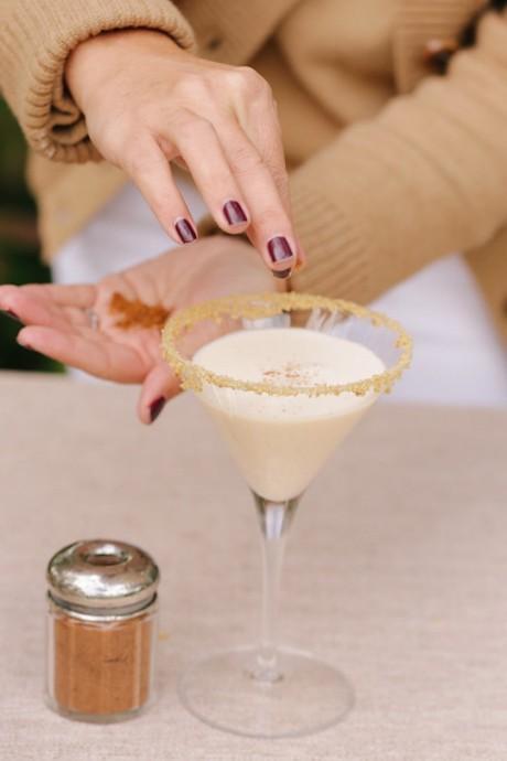 Pumpkin pie martini garnish www.jjkeras.com